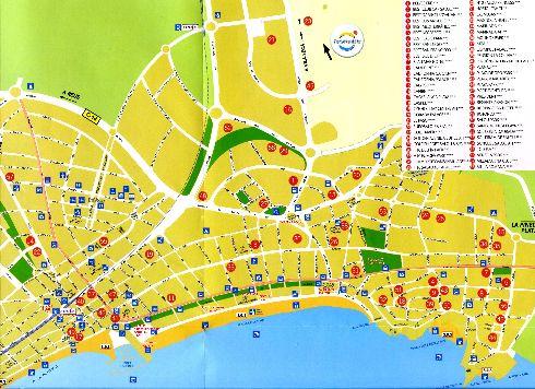 Туристическая карта Салоу