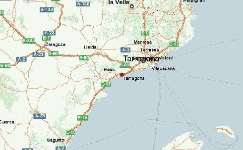Таррагона на карте Коста-Дорада