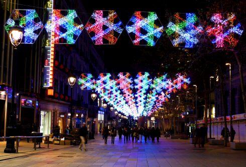 Нарядные улицы Барселоны под Рождество и Новый год