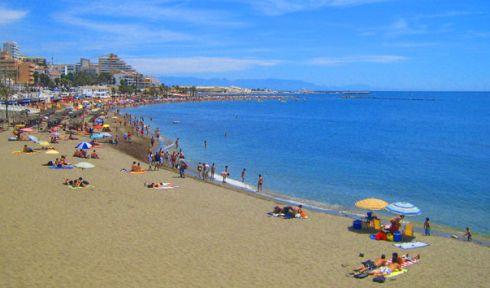 Пляжи курорта Бенальмадена в Испании